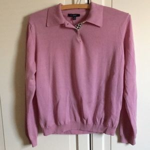 Burberry London pink sweater. Size M